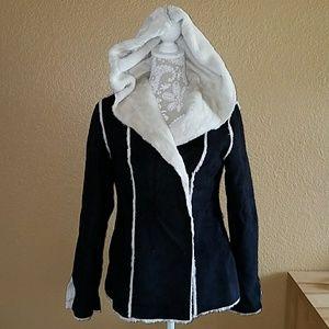 White House Black Market hooded jacket sz S